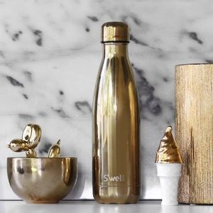 nwt //s'well metallic ombré gold silver h2o bottle